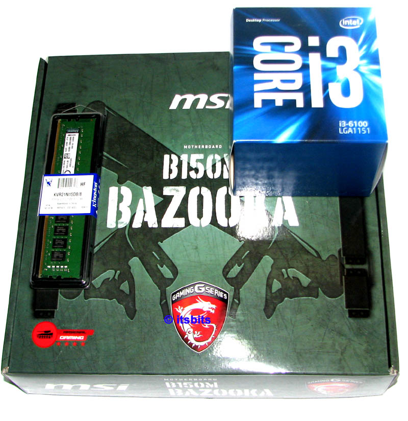 MSI B150M BAZOOKA INTEL I3 6100 8GB DDR4 RAM DUAL CORE