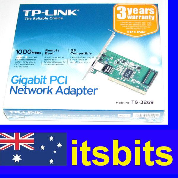 TP-LINK-TG3269-GIGABIT-10-100-1000-PCI-NETWORK-LAN-CARD-NIC-3YR-WTY