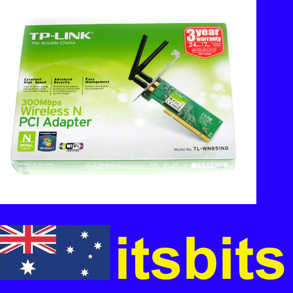 TP-LINK-TL-WN851ND-PCI-WIRELESS-N-ADAPTOR-300Mbps-2-AERIALS-3YR-WARRANTY