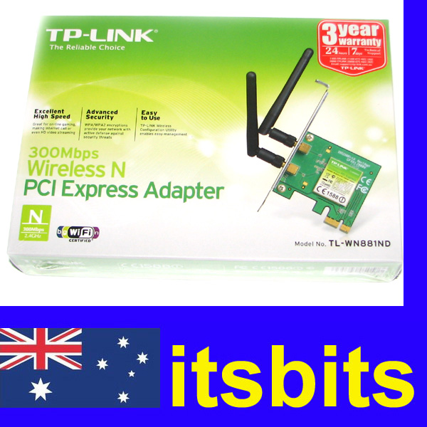 TP-LINK-TL-WN881ND-WIRELESS-N-PCI-E-300Mbps-NETWORK-CARD-ADAPTOR-2-4GHZ-3Y-WTY