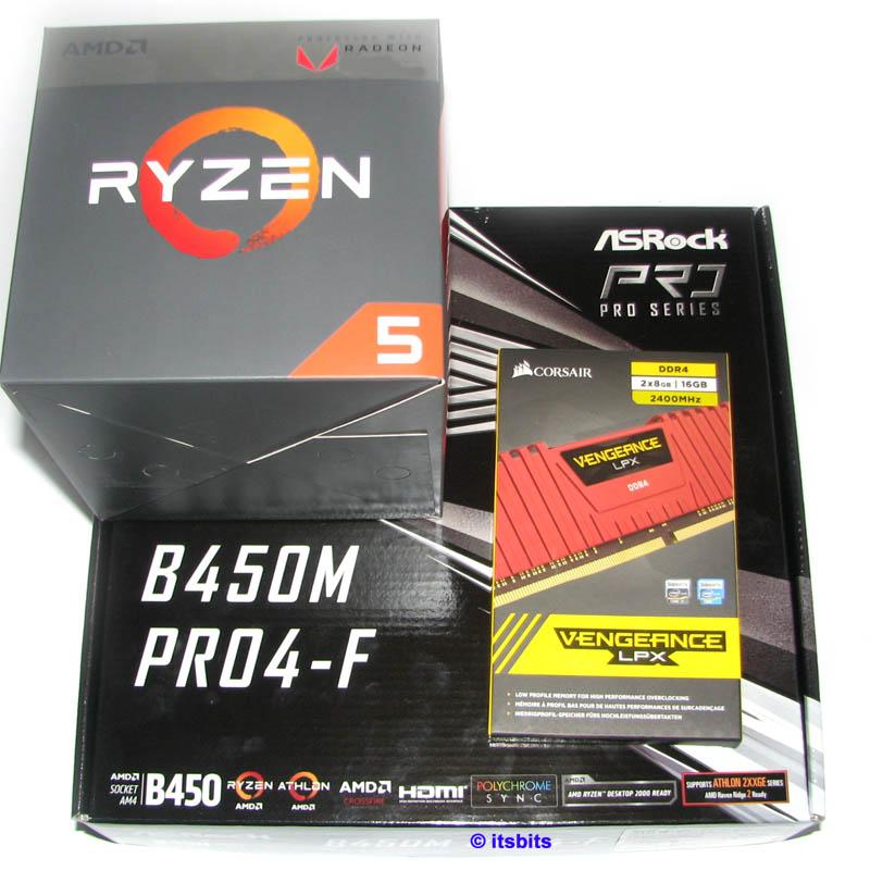 Details about ASROCK B450M PRO4-F AM4 + AMD RYZEN 5 2600 SIX CORE CPU 16GB  DDR4 UPGRADE PACK