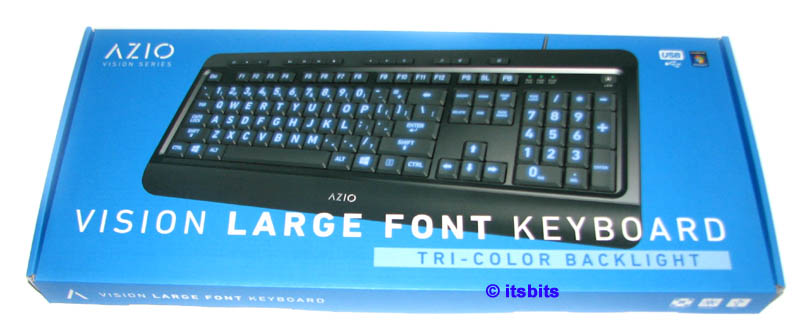 76c0771dbb7 Details about AZIO KB505U TRI COLOR BACKLIT USB KEYBOARD LARGE PRINT  LETTERING ILLUMINATED