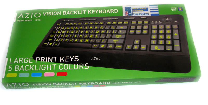 a86d7f85568 AZIO KB506 VISION LARGE PRINT BACKLIT KEYS USB KEYBOARD 5 COLOURS ...